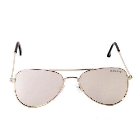 Óculos de Sol Khatto Infantil Aviador Station Feminino - Rosa+Dourado 01a65bc175