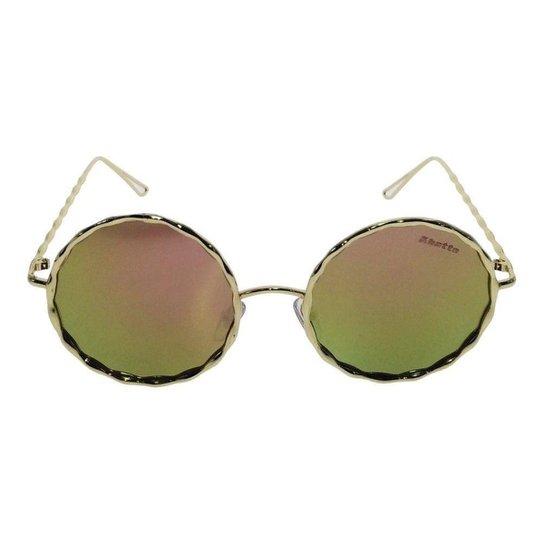 Óculos de Sol Solar Redondo 35 Feminino - Rosa e Dourado - Compre ... 6e36dc7e37