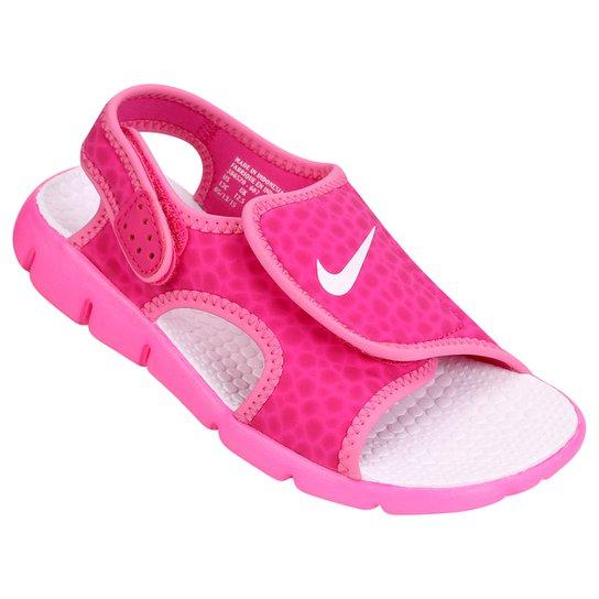 4eaf7e2b30 Sandália Infantil Nike Sunray Adjust 4 GGP Feminina - Rosa Escuro ...
