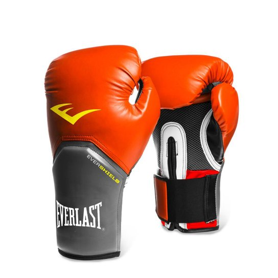 13223f507 Luva de Boxe Muay Thai Everlast Pro Style - 14 oz - Vermelho e Cinza ...