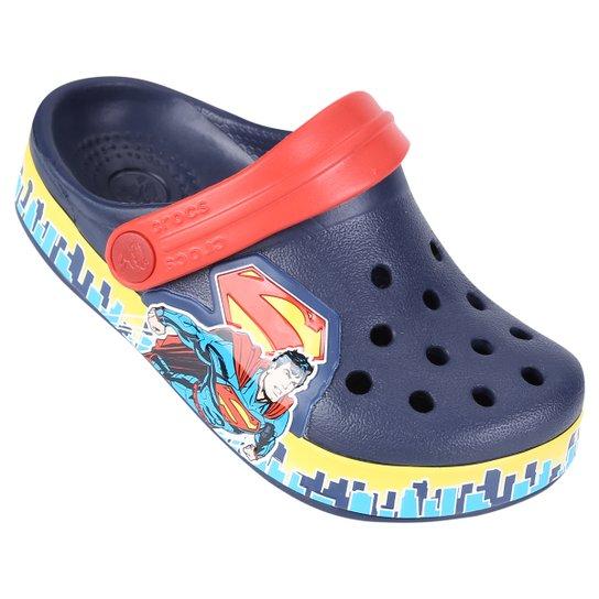 88ad5af15 Sandália Crocs Infantil Crocband Superman Clog - Marinho+Vermelho