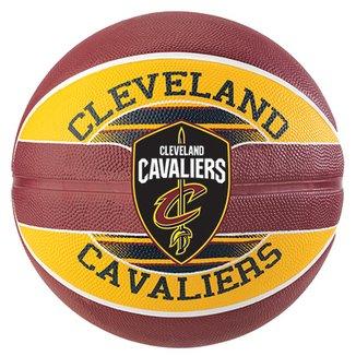 3408a4a4a52e0 Bola de Basquete Spalding NBA Cleveland Cavaliers Team Rubber Basketball  Tam 7