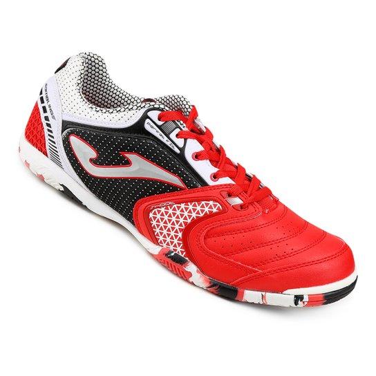 35b90adbdf Chuteira Futsal Joma Dribling - Vermelho+Preto