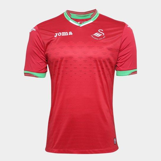 Camisa Swansea City Away 17 18 s n°- Torcedor Joma Masculina ... a5ab12a74c360