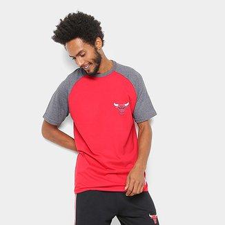 Camiseta NBA Mini Logo Chicago Bulls Masculina 6d2fce988c3