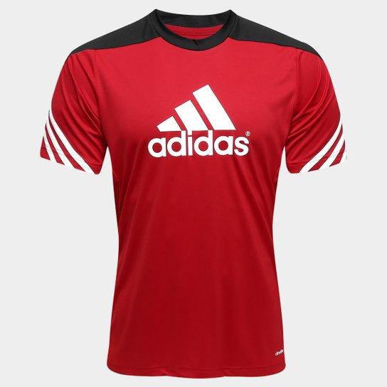 46a639b158 Camisa Adidas Treino Sere 14 Masculina - Vermelho