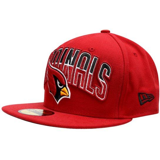Boné New Era 5950 NFL Draft Arizona Cardinals Team Color - Vermelho ... ab69bacf8e2