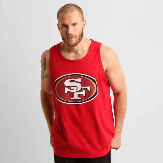 f2fdb0845ccf4 Camiseta Regata New Era NFL São Francisco 49 Ers - Vermelho - Compre ...