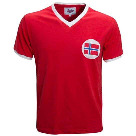 Camisa Liga Retrô Noruega 1960´s - Vermelho - Compre Agora  44be1036ba7ca