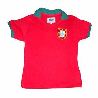 Camisa Liga Retrô Infantil Portugal 1972 3040d6f8d8203