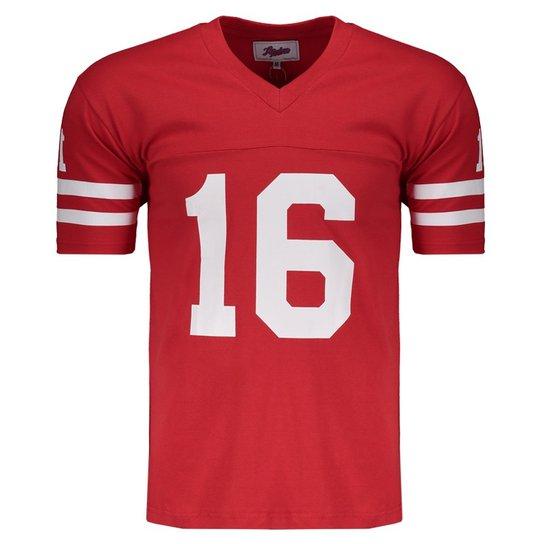 Camisa NFL San Francisco 49ers Retrô - Vermelho - Compre Agora ... 33538b36b2b