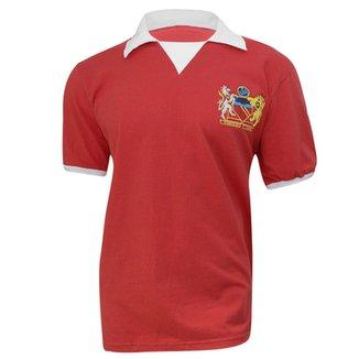 Camiseta Retrô Manchester United Liga Retrô Ve 028ee6bcb7c88