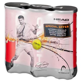 810d07a617 Kit c  3 Tubos de Bolas de Tennis Head Championship Novak Djokovic c  3