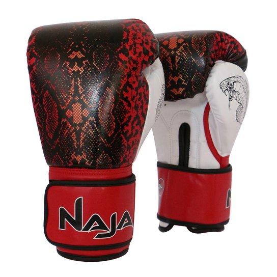 dacac7871 Luva de Boxe   Muay Thai Feminina Naja Animal Print Cobra 14 Oz - Vermelho