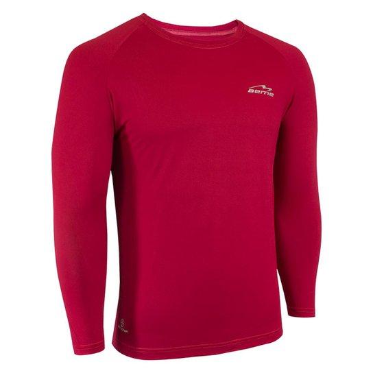 Camisa Raglã Poliamida Manga Longa Proteção Solar Masculina - Vermelho d01dbbc2df310