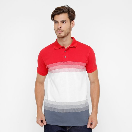 2629722019 Camisa Polo Bluebay Piquet Listras Masculina - Compre Agora