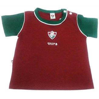 98019e3523 Camiseta Bicolor Meia Malha Unissex Fluminense Reve Dor - 3 Anos