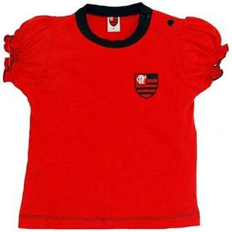 fa4f67bf8fdad Baby Look Cores Clube Meia Malha Flamengo Reve Dor