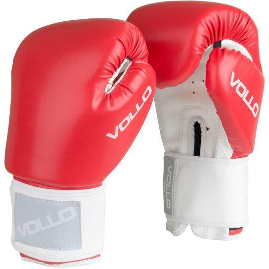 d33a177ae Luva De Boxe Muay Thai Combat Vollo - Vermelho - Compre Agora