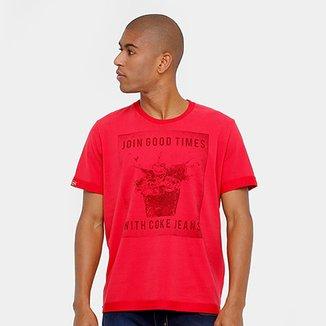 719e2158c4 Camiseta Coca-Cola Cheirinho Ice Masculina