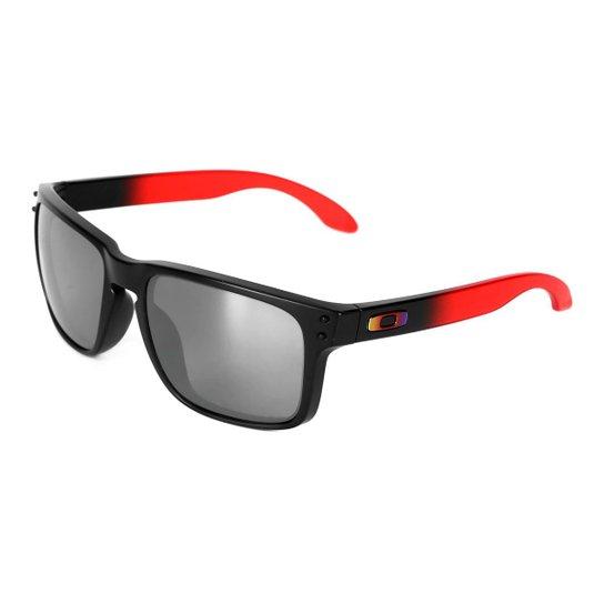 b3d478066e9ec Óculos de Sol Oakley Holbrook Masculino - Vermelho - Compre Agora ...