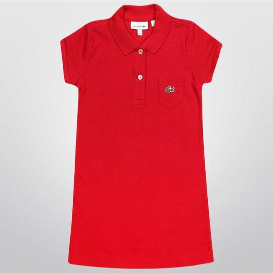 Vestido Lacoste Básico Infantil - Compre Agora   Netshoes adda54a173