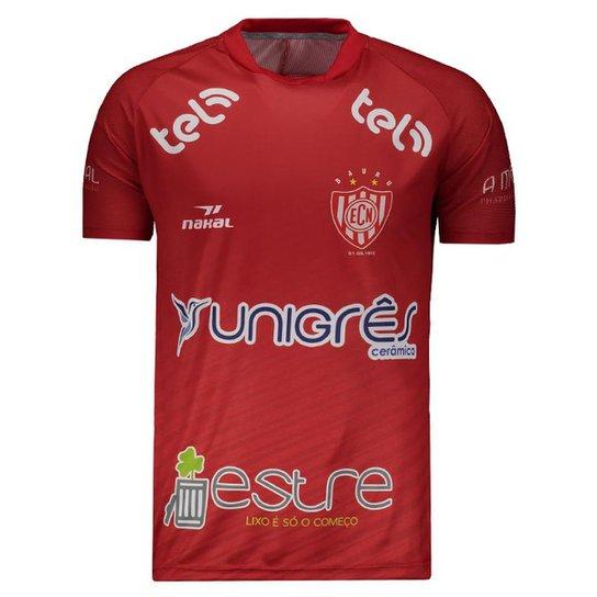 8c25e08f7 Camisa Nakal Noroeste de Bauru I 2019 Masculina - Vermelho