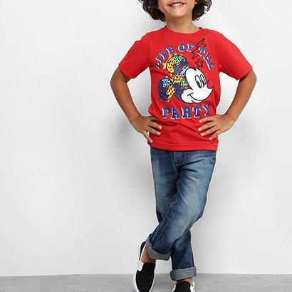 Camiseta Infantil Disney Mickey Party Masculina