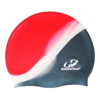 Touca de Silicone Hammerhead Lisa Multicor   Cinza-Branco- 7d82a8bfea7