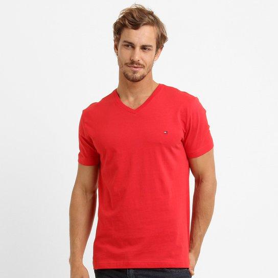 fdbd7648e9 Camiseta Tommy Hilfiger Básica Gola V - Compre Agora
