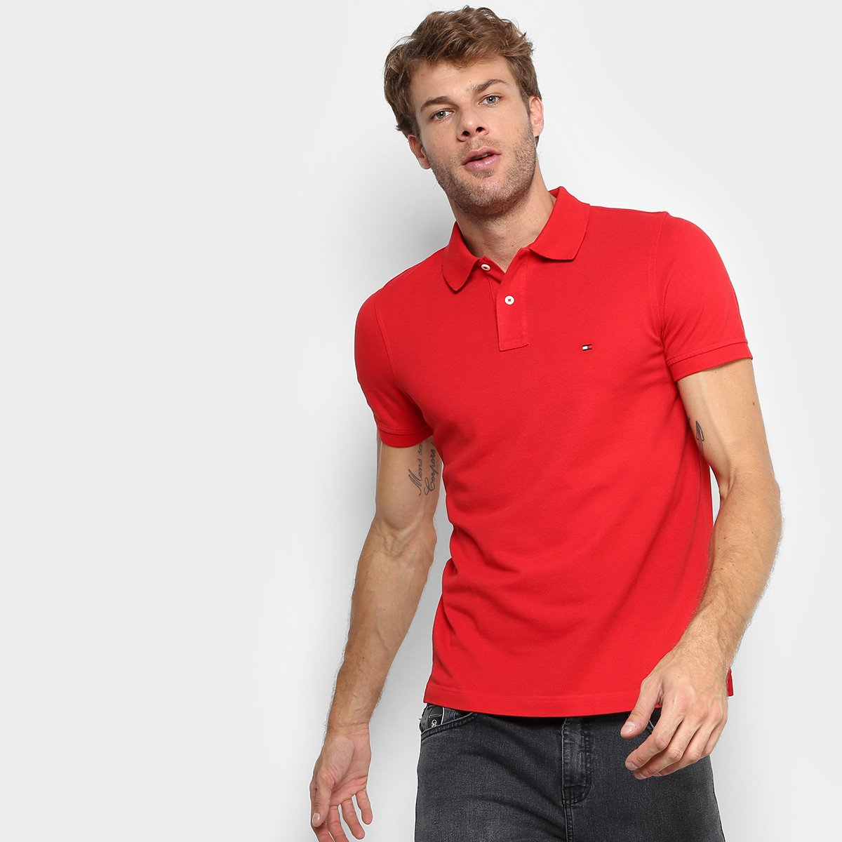 1c88394726 Camisa Polo Tommy Hilfiger Slim Fit Clássica Masculina