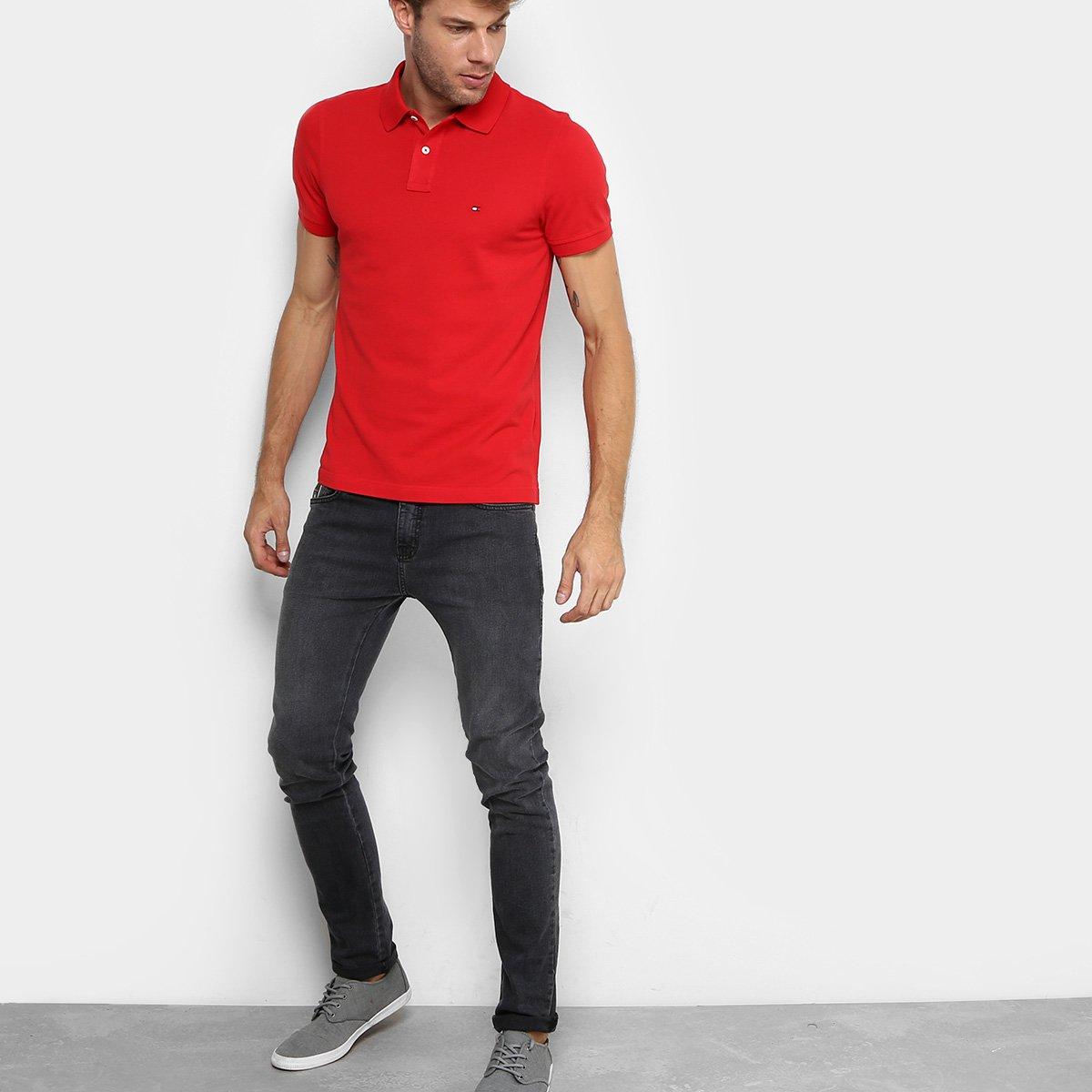 487729b5fd3 Camisa Polo Tommy Hilfiger Slim Fit Clássica Masculina