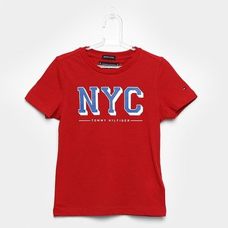 5e186d0a8a Camiseta Infantil Tommy Hilfiger Estampada Masculina