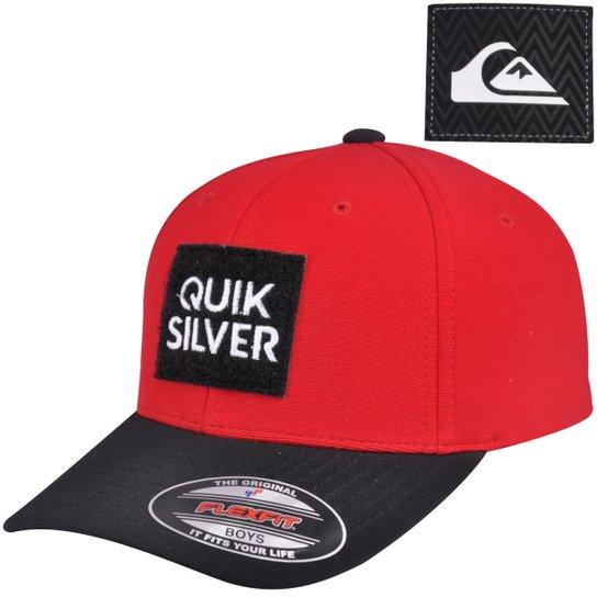 03751cbd657f4 Boné Quiksilver Velcro Aplique Juvenil - Compre Agora