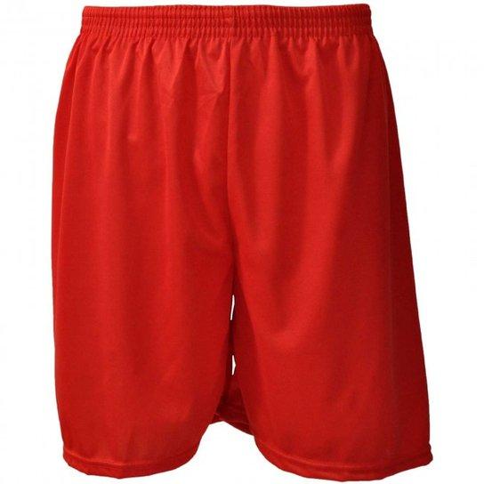 cbee2f349a Calção Futebol Nata Reforçado Masculino - Vermelho - Compre Agora ...