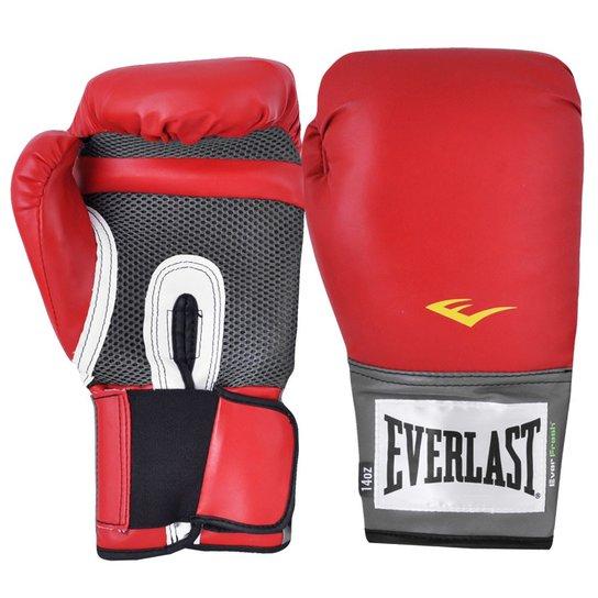 7eec4bf37e Luva Boxe Everlast Pro Style Elite Training 14 Oz - Vermelho ...
