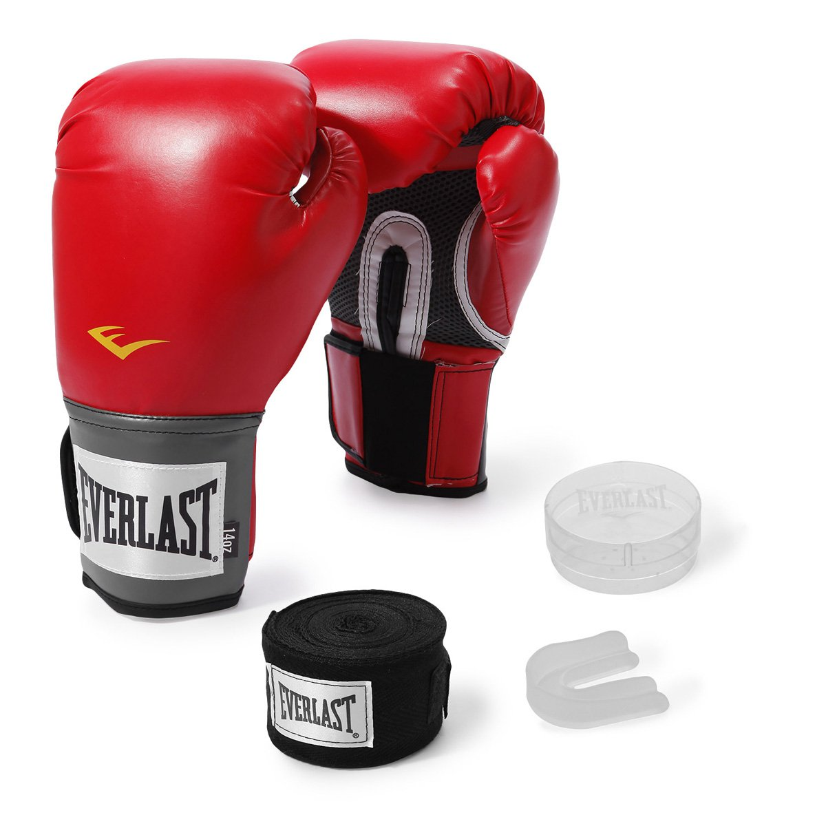 de0f42097 Kit Luva de Boxe Everlast Training 14 Oz + Bandagem - Shopping TudoAzul