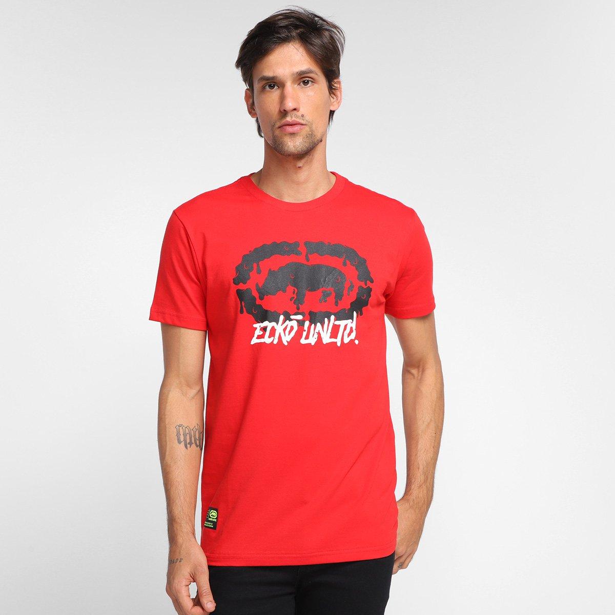 Camiseta Ecko Logo Melt Masculina