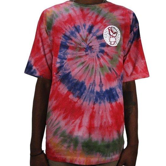 17ce3e665 Camiseta Outlawz Tie Dye Do It Your Self Multicolor 2 - Vermelho