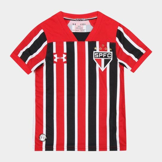 22d5f1157984e Camisa São Paulo Infantil II 17 18 s nº Torcedor Under Armour - Vermelho