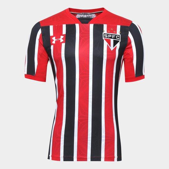 2d185e39fc9 Camisa São Paulo II 17 18 s nº Jogador Under Armour Masculina - Vermelho