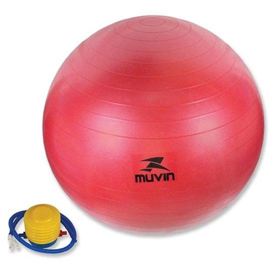 aa475d4e59780 Bola Pilates Fitball Com Bomba Muvin - 75Cm - Vermelha - Compre ...