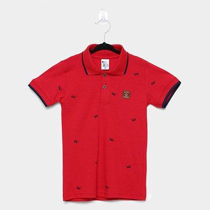 Camisa Polo Infantil Pulla Bulla Piquet Óculos Masculina