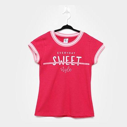 Blusa Infantil Pulla Bulla Sweet Style Glitter Feminina