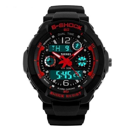 d9422136c Relógio Skmei Anadigi 1060 - Vermelho