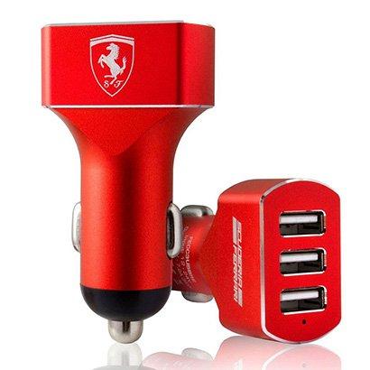 Carregador Veicular Ferrari 3 Entradas USB