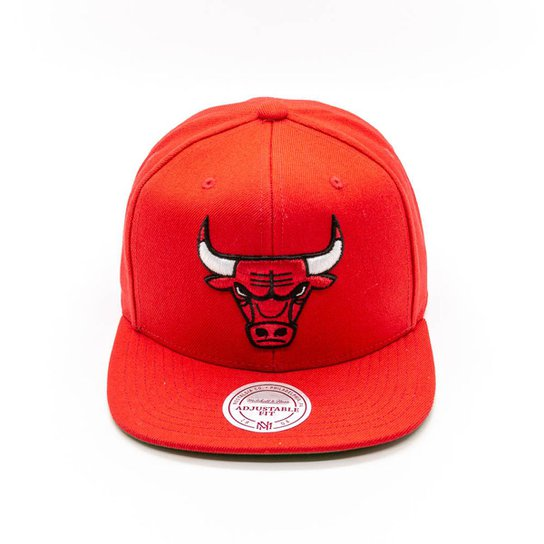 Boné Mitchell   Ness Lã Solid NBA Chicago Bulls Snapback - Vermelho ... ce10d289dd1