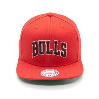 Boné Mitchell & Ness Lã Solid NBA Chicago Bulls Snapback