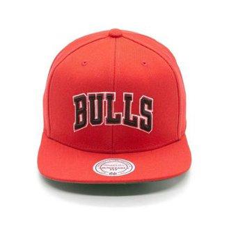 Boné Mitchell   Ness Lã Solid NBA Chicago Bulls Snapback b19d49310cd