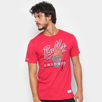 140b2d8e45a Camisa Mitchell   Ness Drive To The Basket Chigaco Bulls Masculina